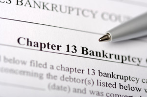 Document labeled chapter 13 bankruptcy