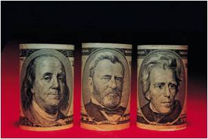 three money bill's faces