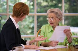 older woman with attorney