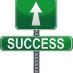 Success Sign with arrow pointing up